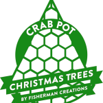Crab Pot Christmas Trees are the perfect trees.