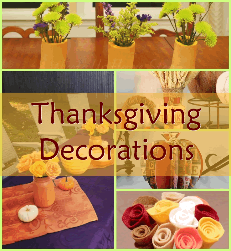 Thanksgiving decorations you can make