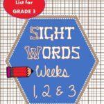 Sight Words for Spelling 3rd grade