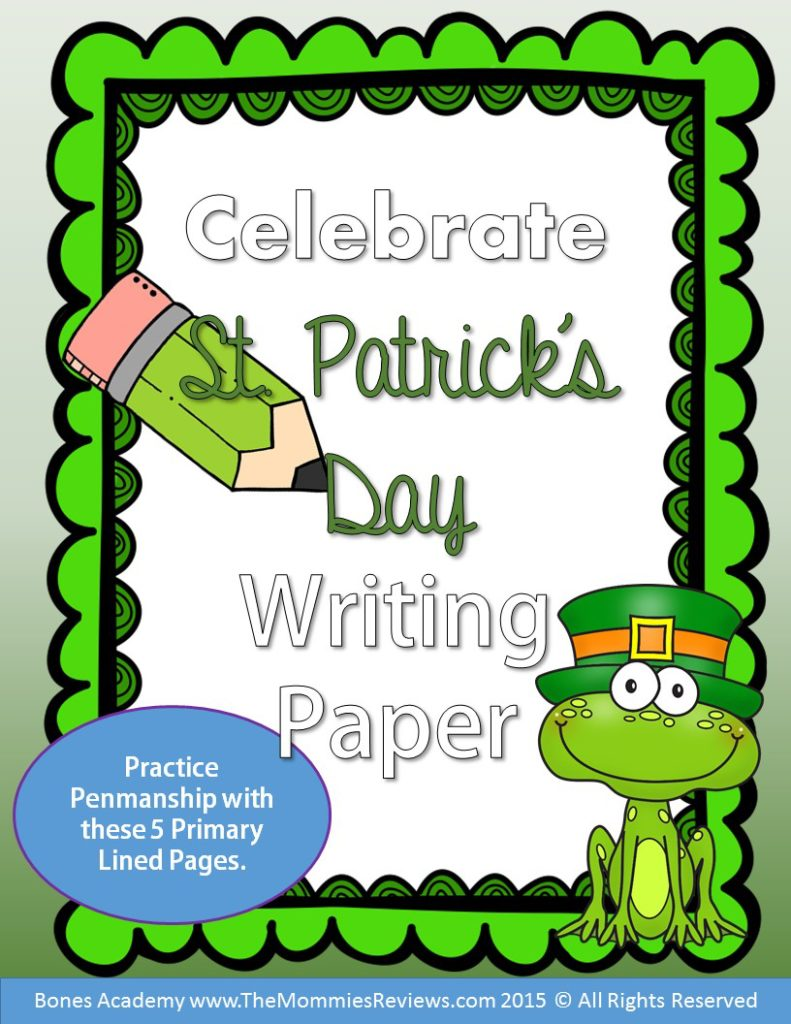 Mommies Reviews- St Patrick's Day Paper- Primary