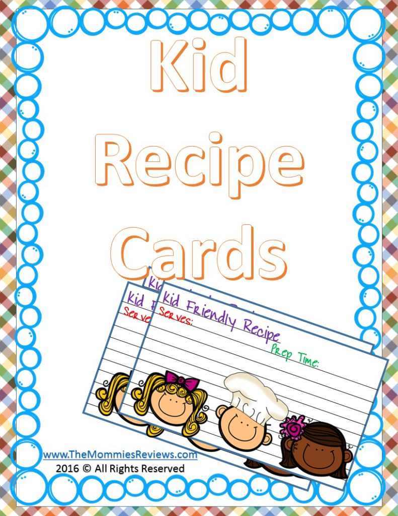 Mommies Reviews Kid Friendly Recipe Cards