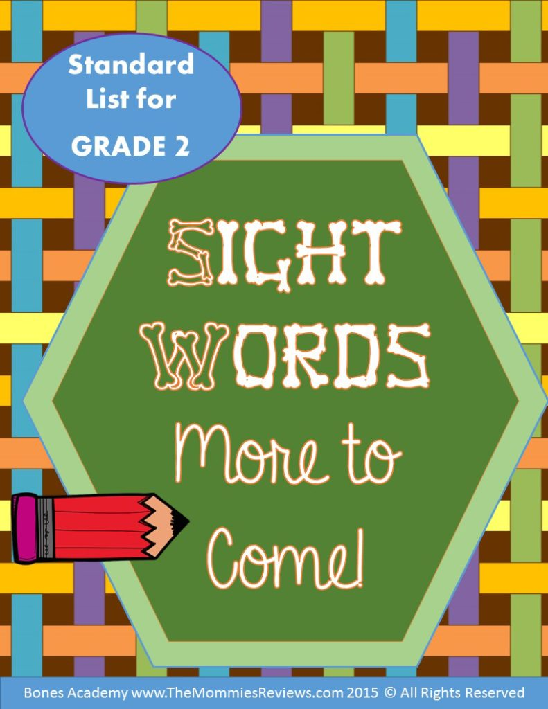 Mommies Reviews- Sight_Words_Grade 2- More to Come