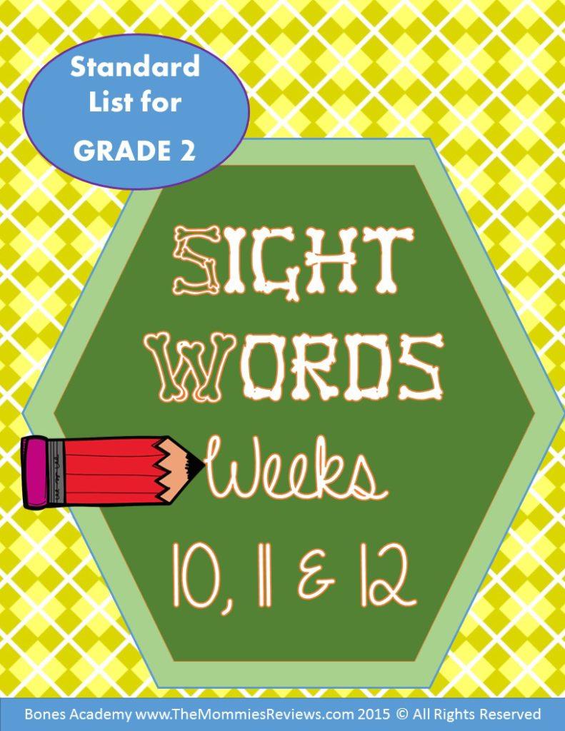Mommies Reviews- Sight_Words_Week_10.11.12- Grade 2