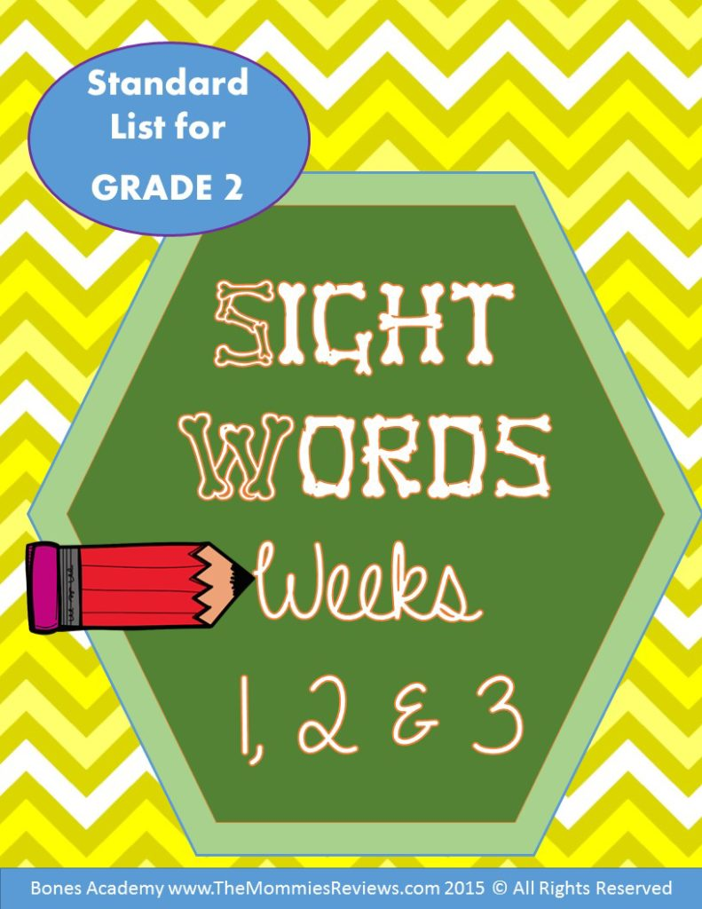Mommies Reviews- Sight_Words_Week_123- Grade 2