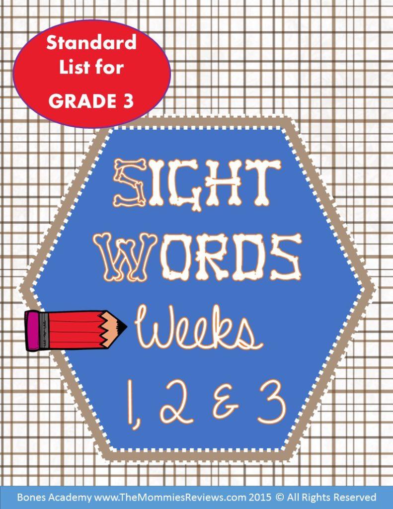 Mommies Reviews- Sight_Words_Week_123-Grade 3