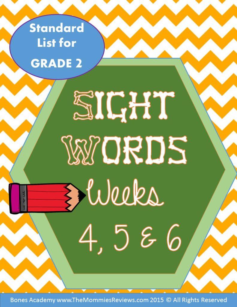 Mommies Reviews Free Printable Sight Words Week 456