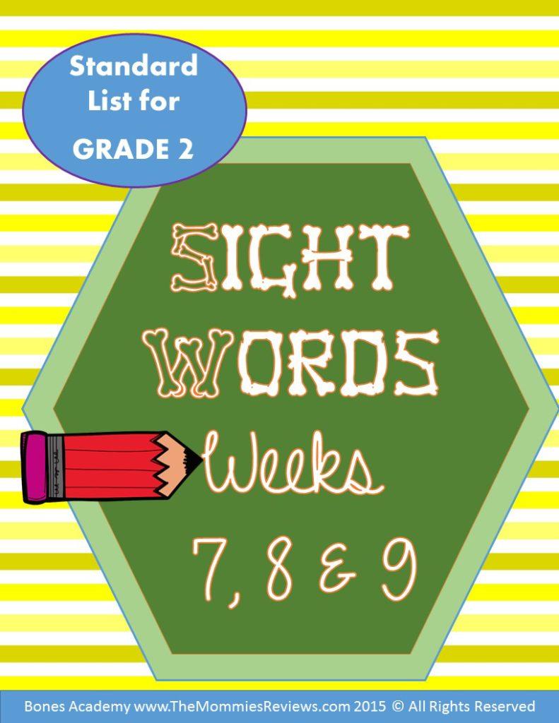 Mommies Reviews- Sight_Words_Week_789- Grade 2