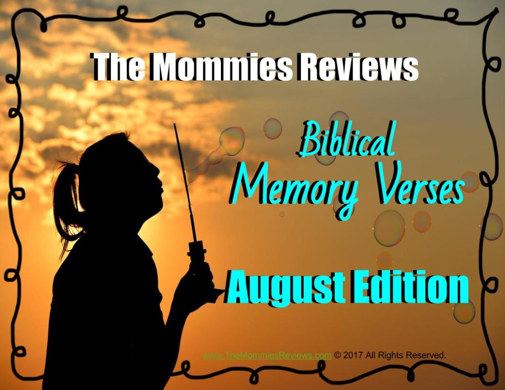 TheMommiesReviews.com Memory Verses August