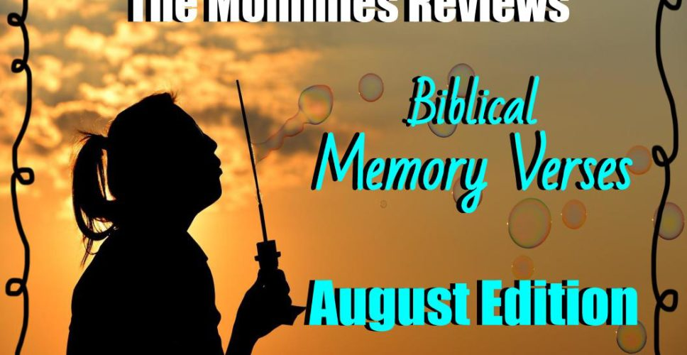 Memory Verses for August 1, 2017