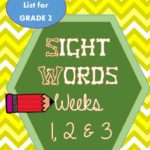 Spelling & Sight Words Weeks 1, 2, 3 for 2nd grade
