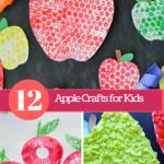 12 Apple Crafts for Kids!