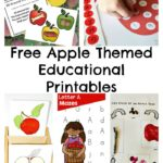 Free Apple Themed Educational Printables