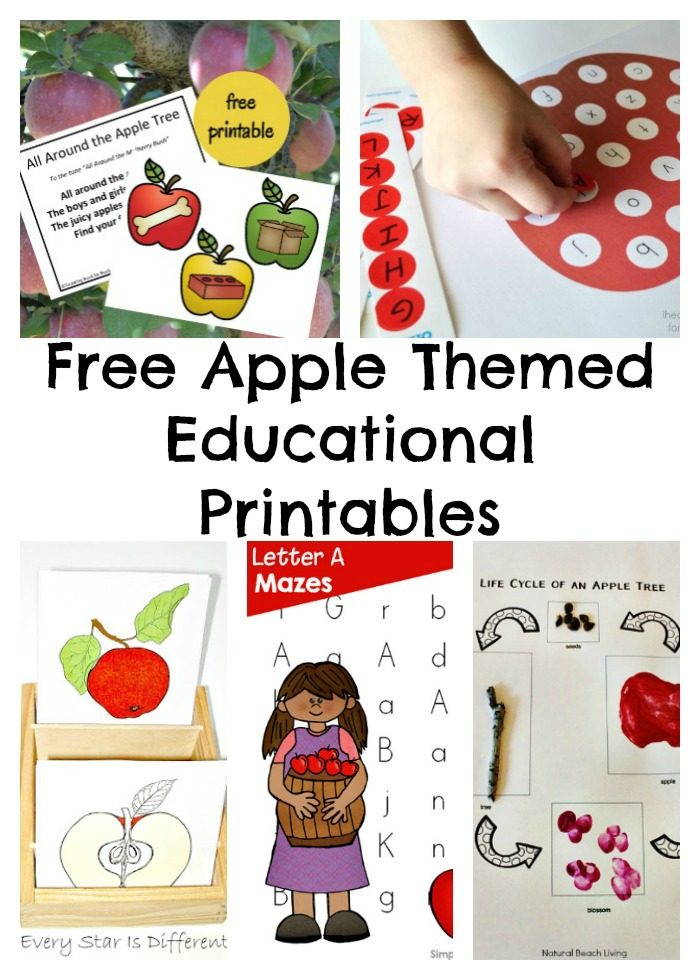 Free Apple Themed Educational Printables - Mommies Reviews