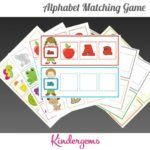 ABC Matching Game Instant Download PDF; Preschool, Kindergarten, School