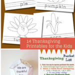14 Thanksgiving Printable for the Kids