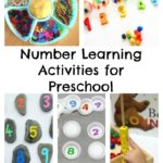 Number Learning Activities for Preschoolers