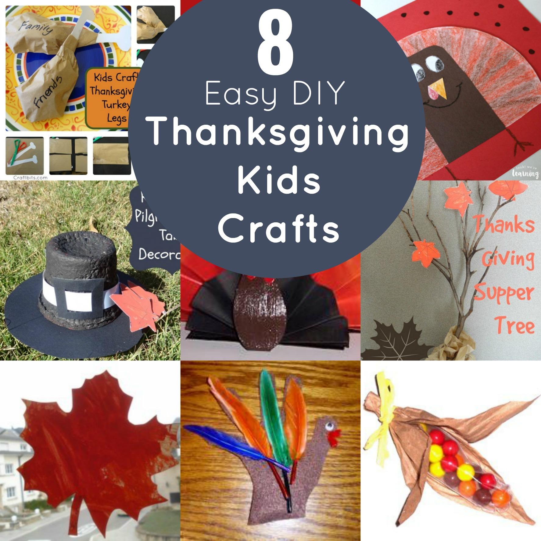 8 easy diy thanksgiving kids crafts mommies reviews for Easy diy thanksgiving crafts