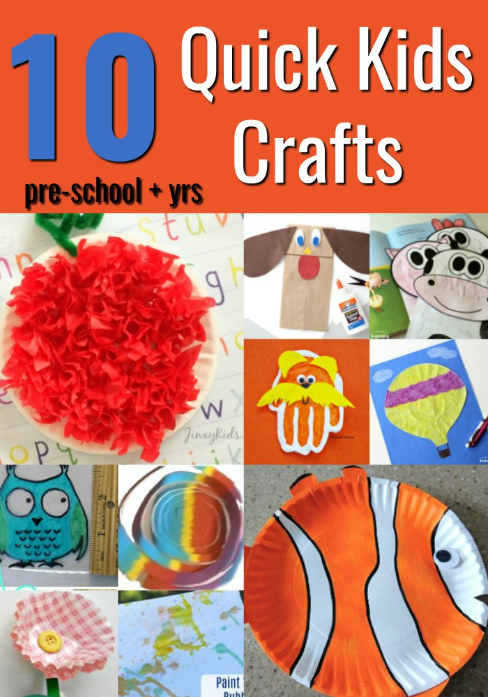 10 quick kids crafts mommies reviews for Quick craft
