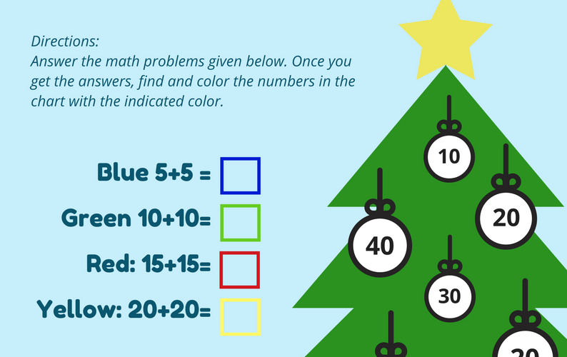 Christmas Tree Math Game Mommies Reviews