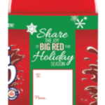 "Big Red Holiday Ornament and Big Red Holiday Limited Edition 2 Liter ""Gift Tag"" Bottle"