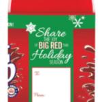 """BigRedHolidayOrnamentandBigRedHolidayLimited Edition 2 Liter """"Gift Tag"""" Bottle"""